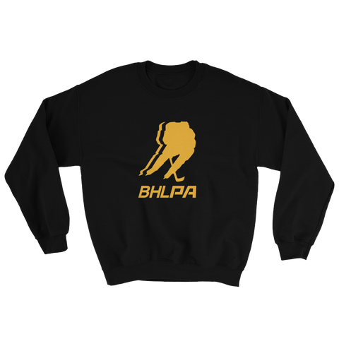 BHLPA Logo Crewneck Sweatshirt (Black/Yellow)