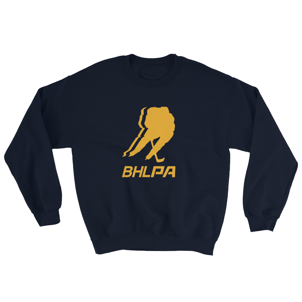 BHLPA Logo Crewneck Sweatshirt (Navy/Yellow)