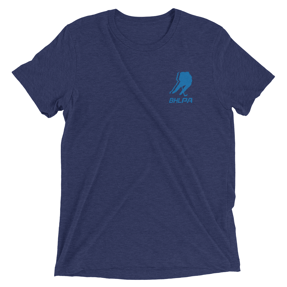 BHLPA Chest Logo T (Navy/Light Blue)