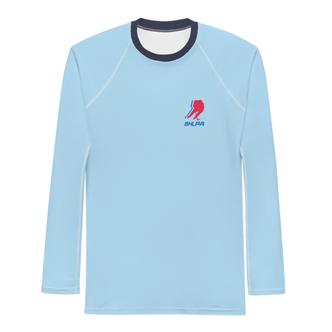 BHLPA Men's Rash Guard (Vintage Baby Blue)