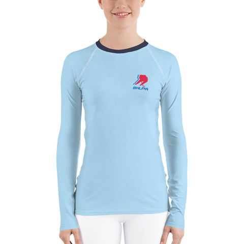 BHLPA Women's Rash Guard (Vintage Baby Blue)
