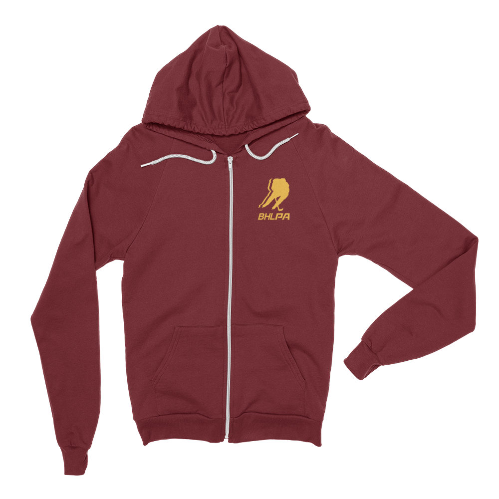 BHLPA Logo Full Zip Sweatshirt (Maroon/Gold)