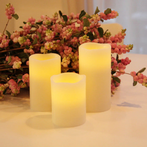 LED wax candles set of 3