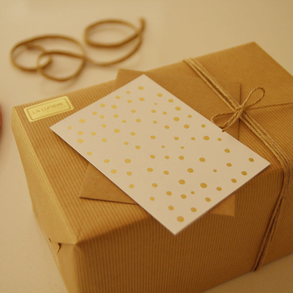 Card gold dots
