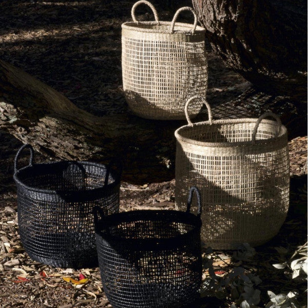 Seagrass basket natural medium