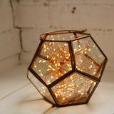 Hexagonal candle lantern