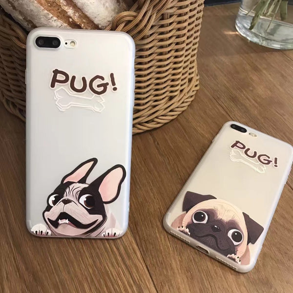 Funny Pug Phone Transparent Case