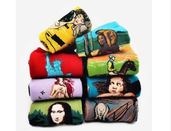 Mona Lisa Fashion Socks for Stylish Icon - Socks for men #16