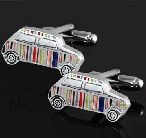 Fashionable Cufflinks for Men - Rainbow Cars