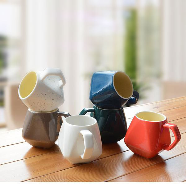 Classic Hand Made Expresso Ceramic Mug *6 Colors*