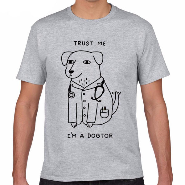 Graphic Tee for Dog Lovers - Trust me I'm a DOGtor