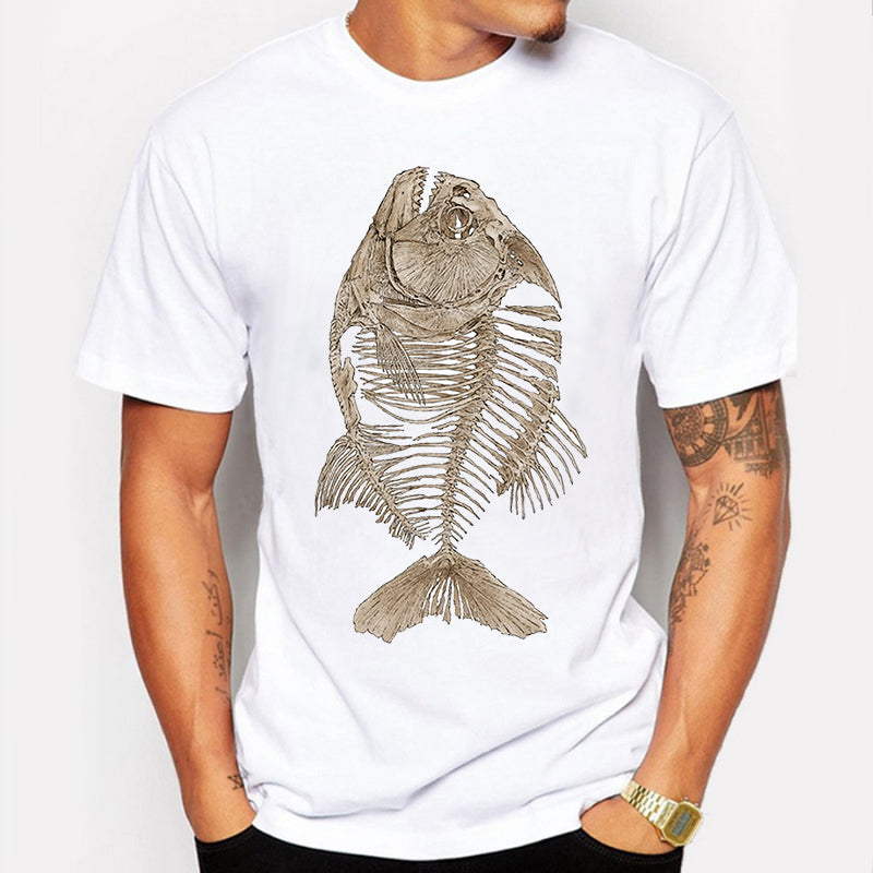 Fashion Graphic Tee - Fossil Fish