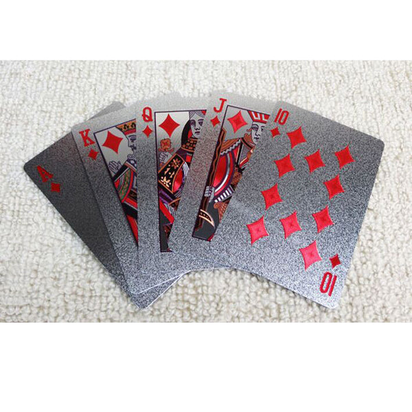 Playing cards - Cool Silver Pattern