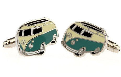 Fashionable Cufflinks for Men - Volkswagen Bus