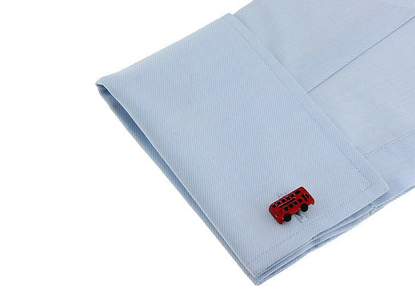 Fun Cufflinks for Men - Red Double Decker