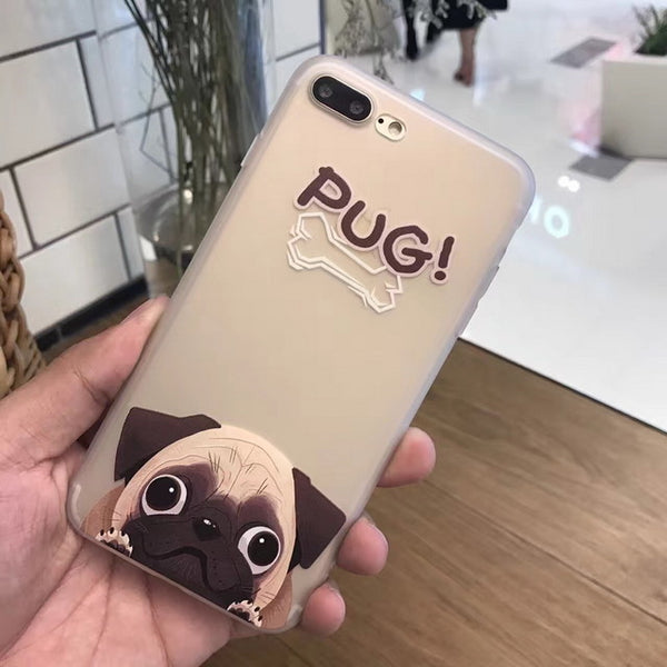 Timid Pug Phone Cover for Dog Lovers