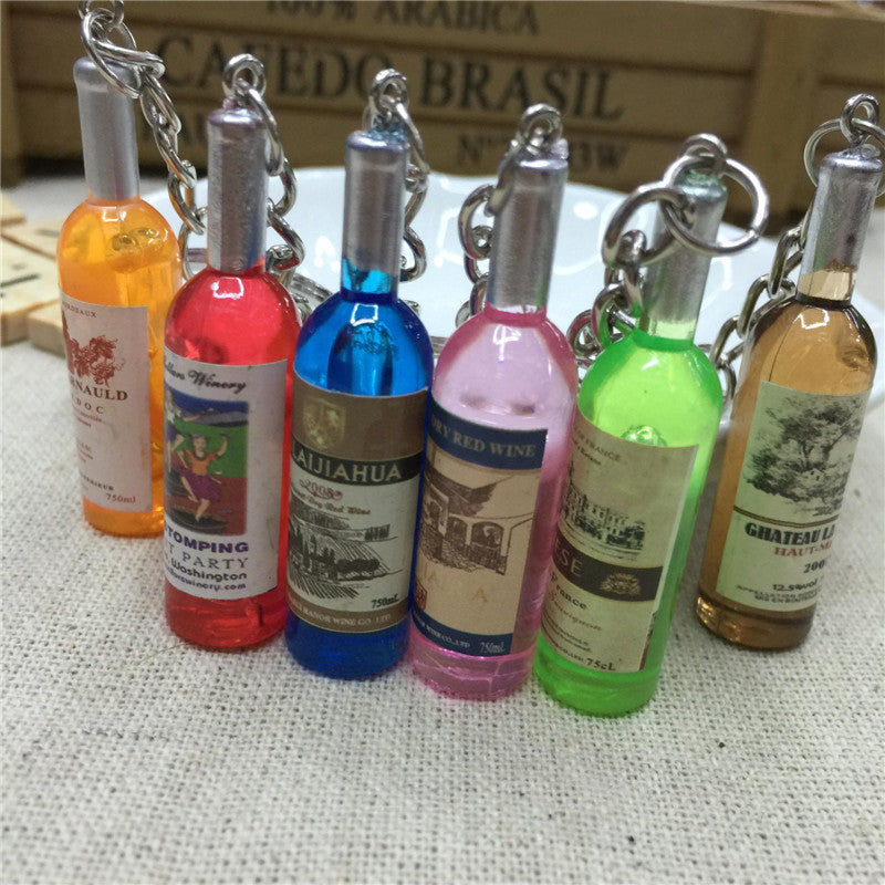 Classic Mini Wine Bottle Keychain for Wine Lover *5pcs / lot*