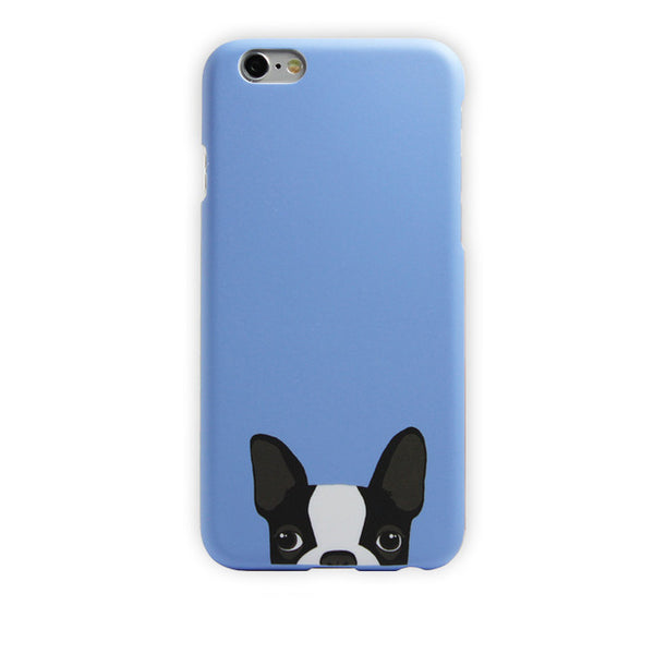 Blue Phone Cover for Dog Lovers - French Bulldog