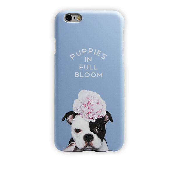 Turquoise Green Phone Cover for Dog Lovers - French Bulldogs