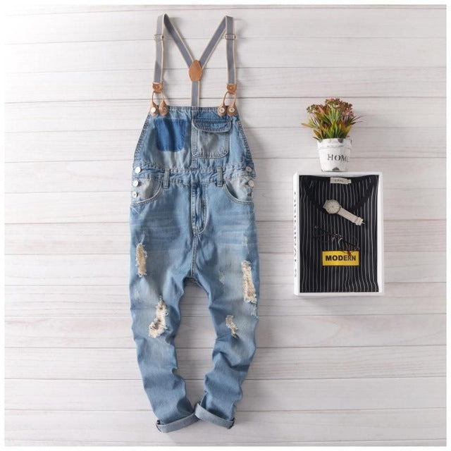 Denim Streetwear Jumpsuit