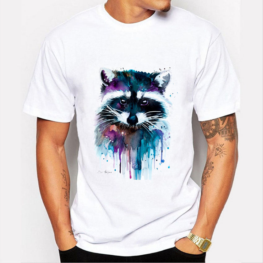 Fashion Graphic Tee - Raccoon