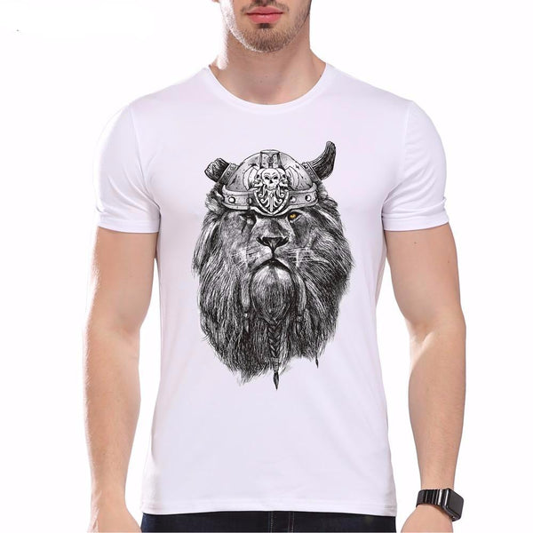 Fashion Graphic Tee - Viking Lion King