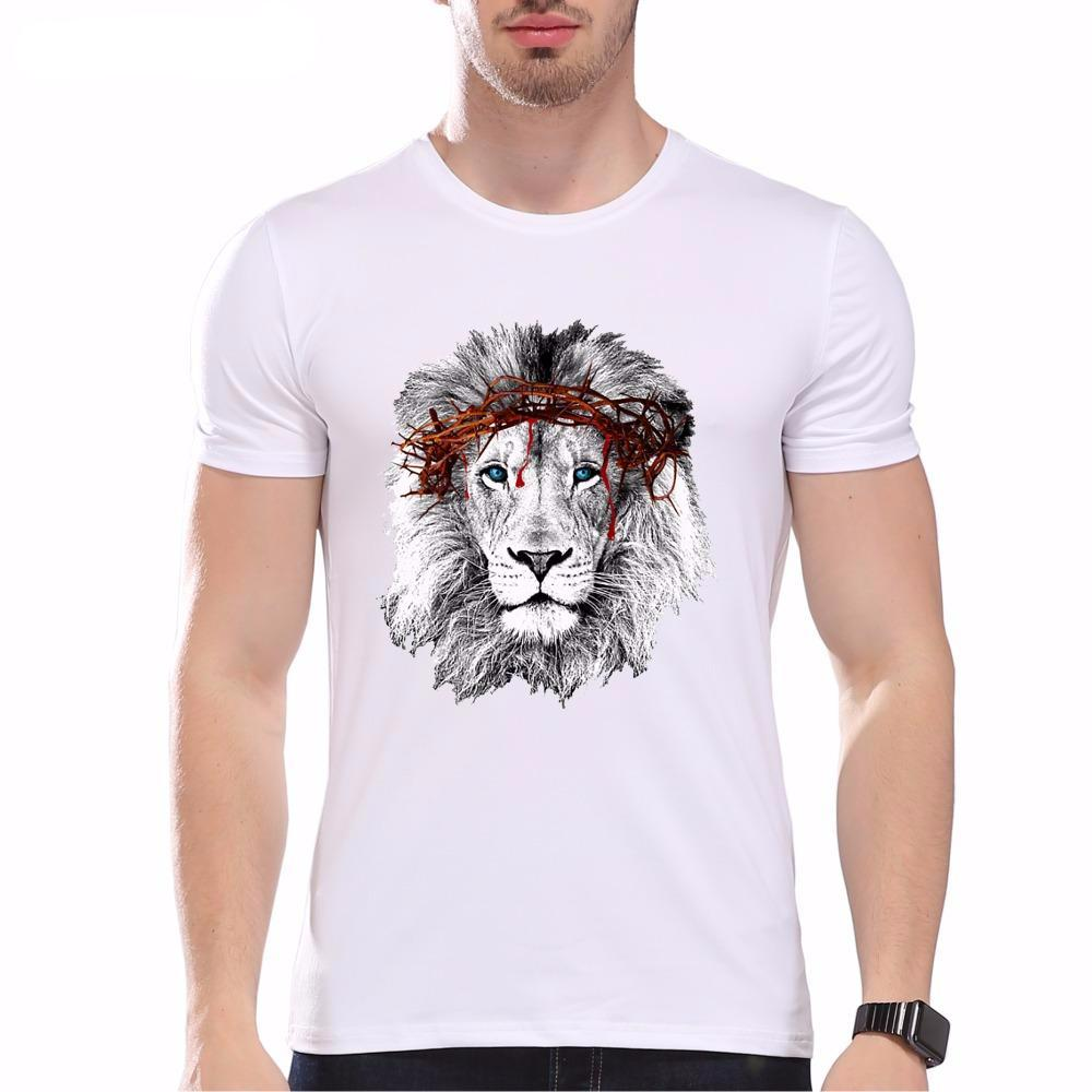 Fashion Graphic Tee - Hipster Lion