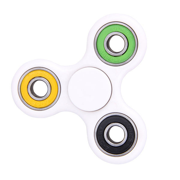 Fancy White Basic Fidget Spinner *7 Mixed Colours*