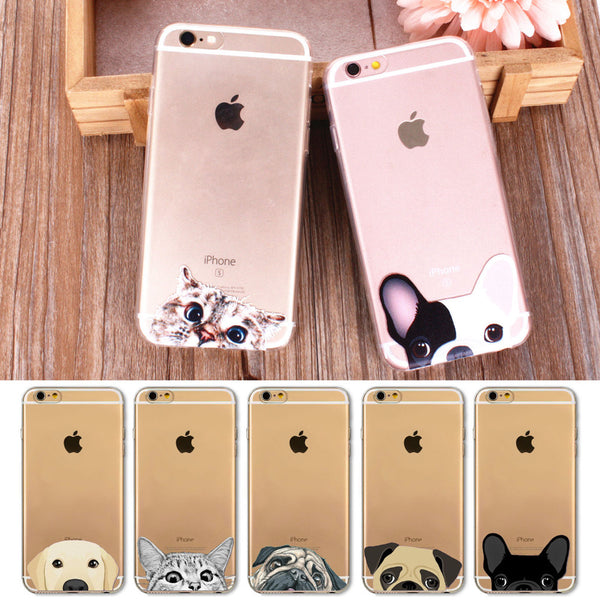 Peek-a-boo Phone Cover for Dog Lovers - French Bulldog 5