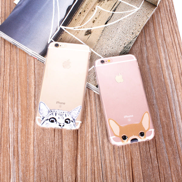 Peek-a-boo Phone Cover for Dog Lovers - Brown Chihuahua
