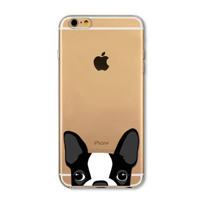 Peek-a-boo Phone Cover for Dog Lovers - French Bulldog