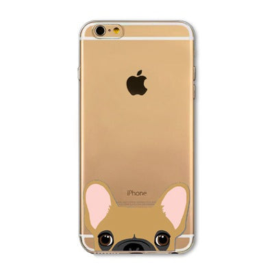 Peek-a-boo Phone Cover for Dog Lovers - French Bulldog 4