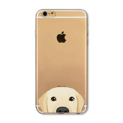 Peek-a-boo Phone Cover for Dog Lovers - Golden Retriever