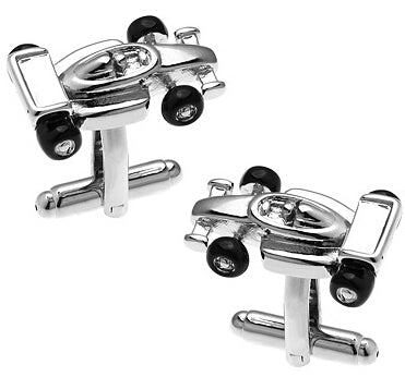 Fashionable Cufflinks for Men - Race Car
