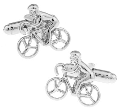 Fun Cufflinks for Men - The Cyclist
