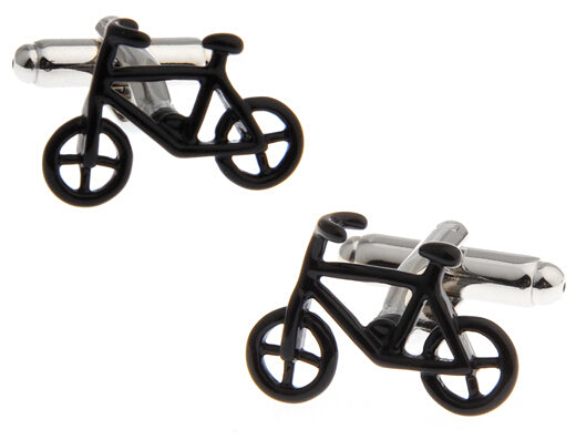 Fun Cufflinks for Men - Ebony Bike