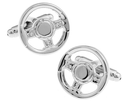Fashionable Cufflinks for Men - Steering Wheel