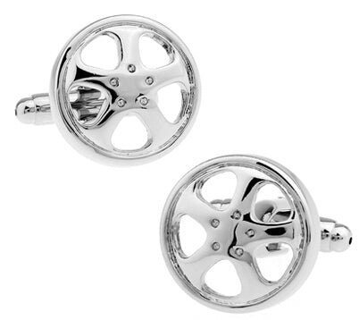 Fashionable Cufflinks for Men - Wheel Rim