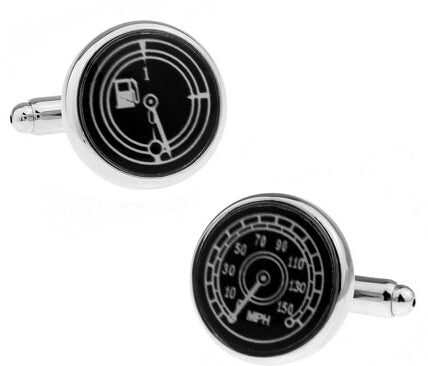 Fashionable Cufflinks for Men - Fuel Meter & Speedometer