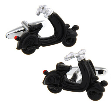 Fun Cufflinks for Men - Black Scooter