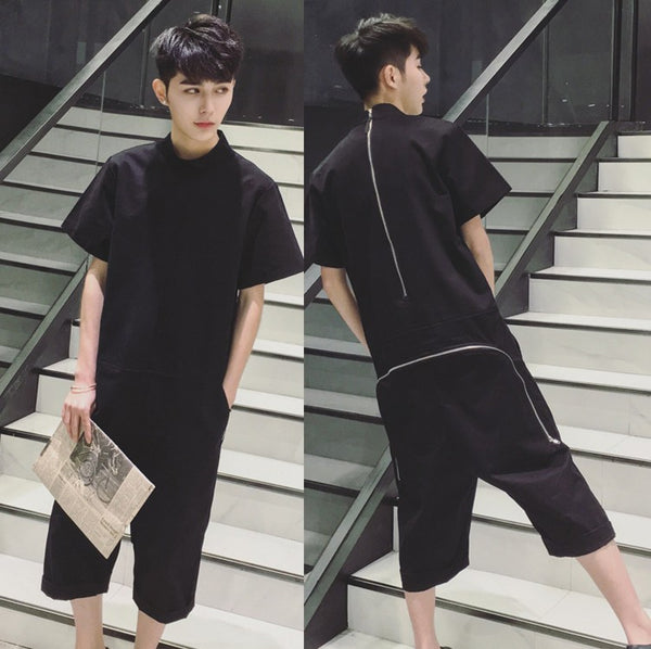 Black Oversize Fashion Jumpsuit for Men