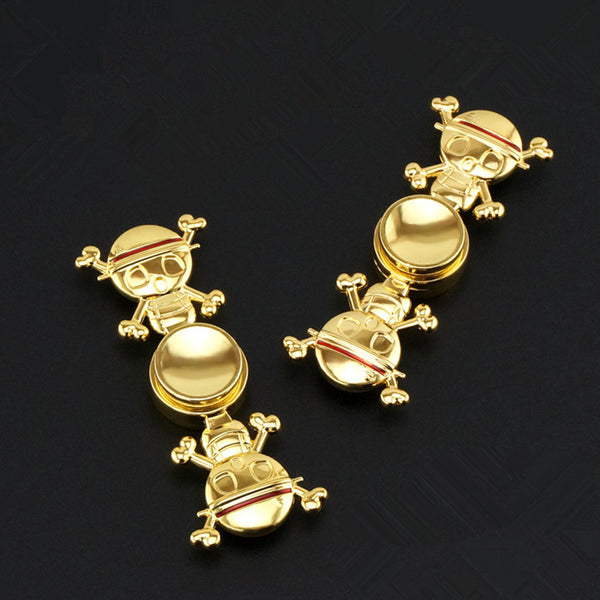 One Piece Logo Gold Fidget Spinner