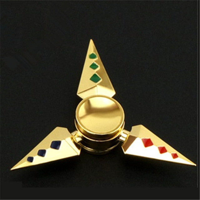 Sharp Diamond Gold Fidget Spinner
