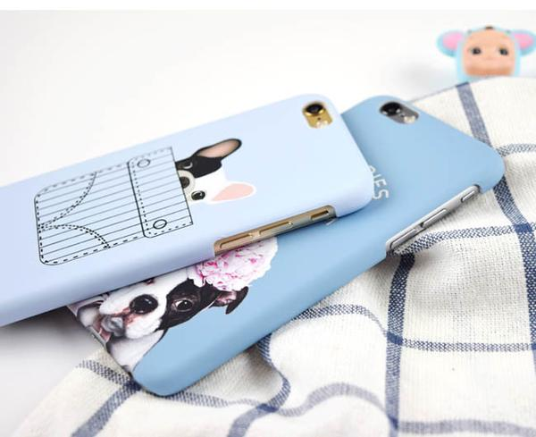 Blue Phone Cover for Dog Lovers - Pocket French Bulldog