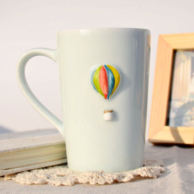 Cute Cup with Hand Painted 3D Emboss Graphic