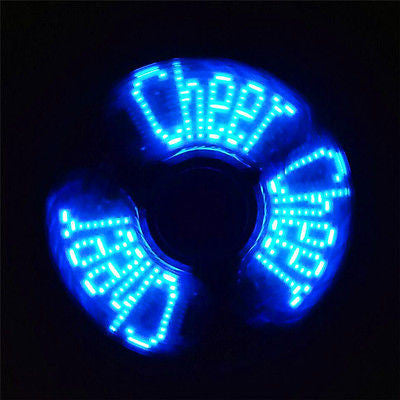 Blue Wording LED Fidget Spinner *Random Colors*