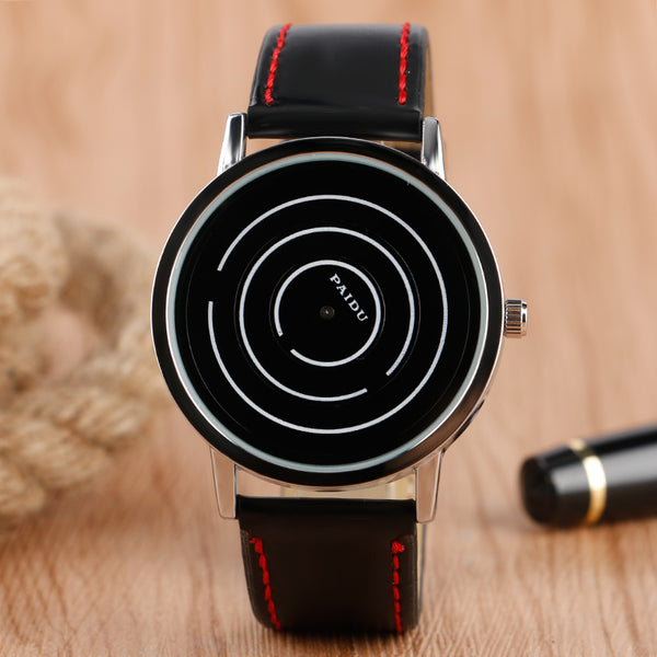 Unique Turntable Circle Designer Watch