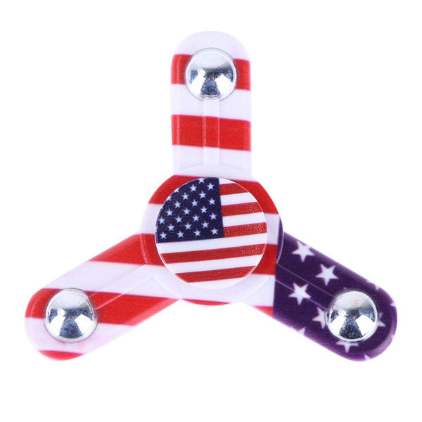 America Flag Tri-Spinners