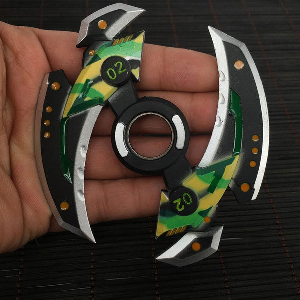Power Green Blade Fidget Spinner