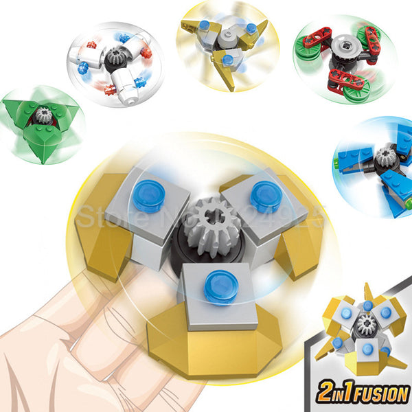 Building Blocks Fusion Fidget Spinner *9 Variants*